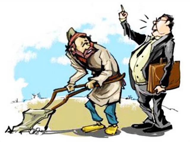 крестьянин и чиновник