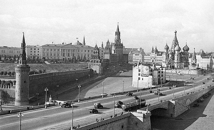 Последний дом 1940 год Васильевский Спуск Москва