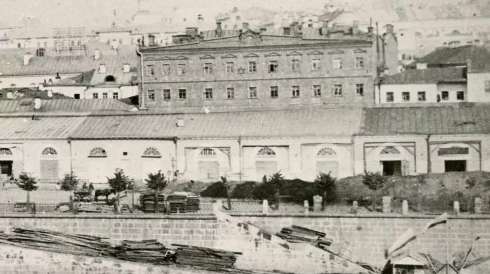 Вид на Москворецкую набережную, Зарядье и Глебовское подворье